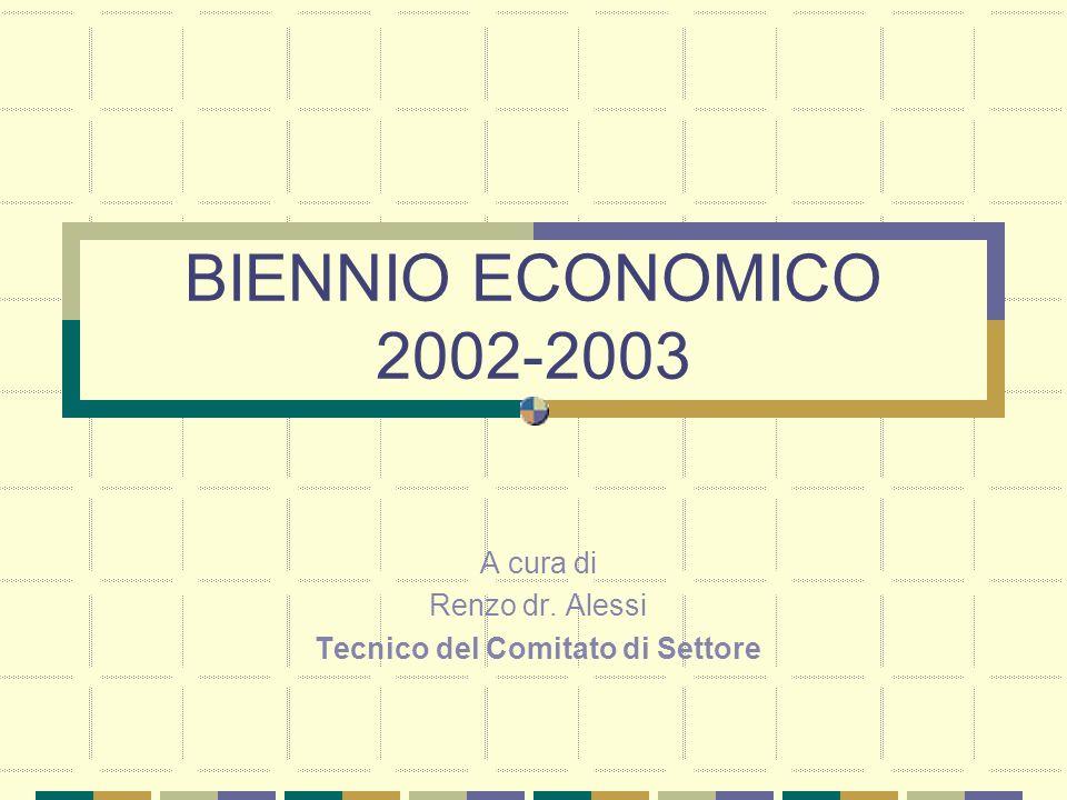 BIENNIO ECONOMICO 2002-2003 A cura di Renzo dr. Alessi Tecnico del Comitato di Settore