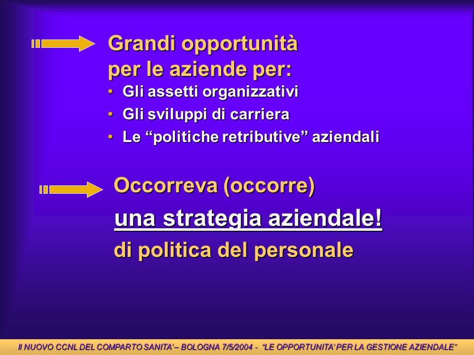 Grandi opportunità per le aziende per: Gli assetti organizzativiGli assetti organizzativi Gli sviluppi di carrieraGli sviluppi di carriera Le politich