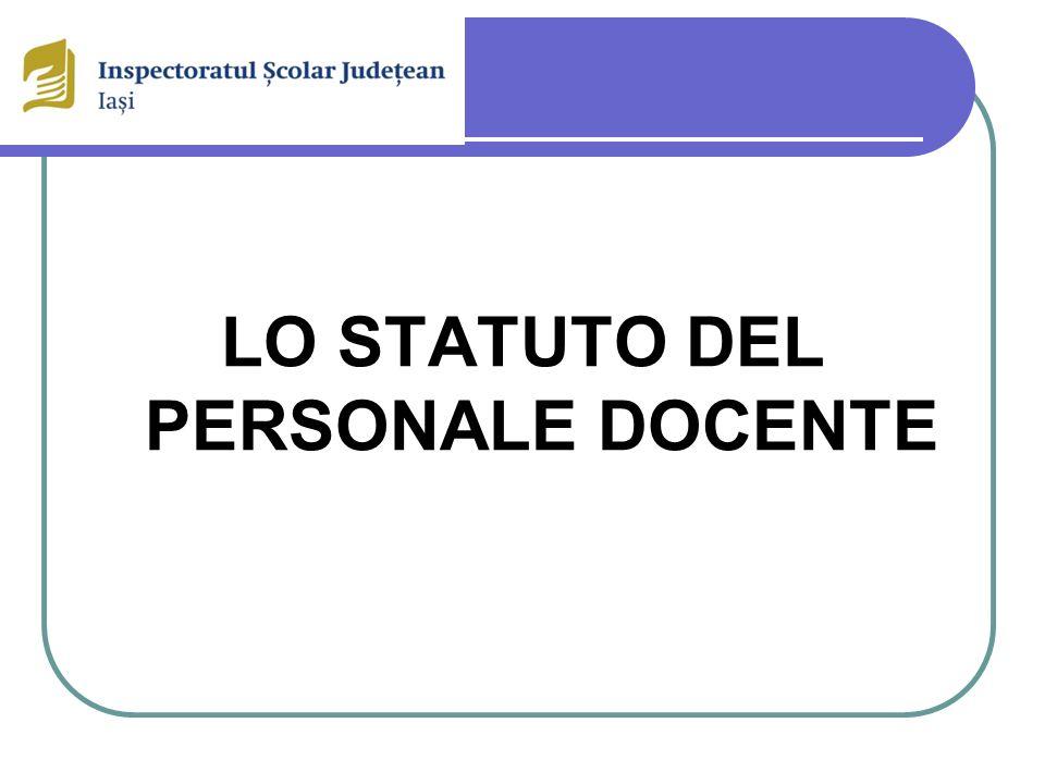 LO STATUTO DEL PERSONALE DOCENTE