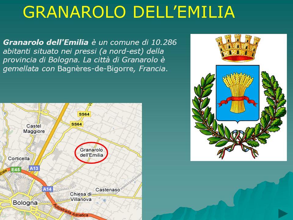 GRANAROLO DELLEMILIA Granarolo dell'Emilia è un comune di 10.286 abitanti situato nei pressi (a nord-est) della provincia di Bologna. La città di Gran
