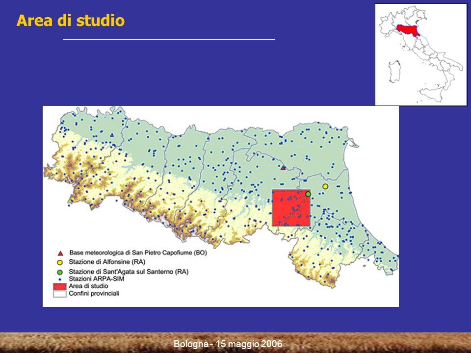 Bologna - 15 maggio 2006 Modelli fenologici per la simulazione delle fasi sensibili