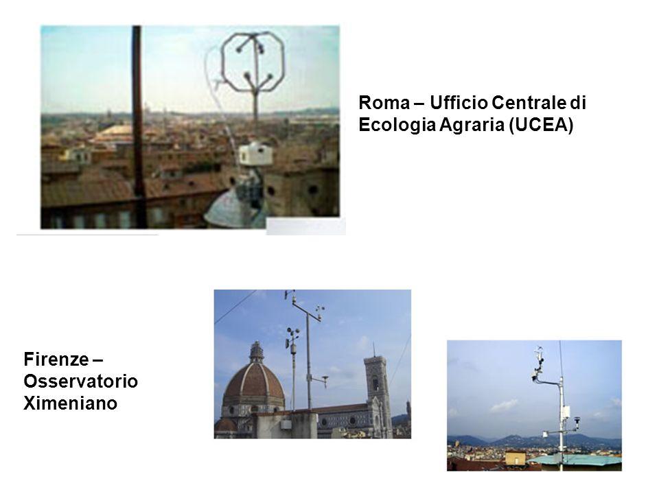Roma – Ufficio Centrale di Ecologia Agraria (UCEA) Firenze – Osservatorio Ximeniano