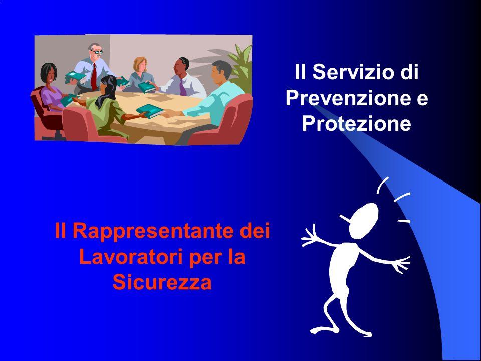 Il Servizio di Prevenzione e Protezione Il Rappresentante dei Lavoratori per la Sicurezza