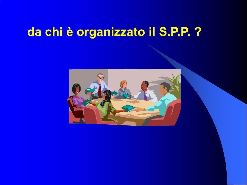 da chi è organizzato il S.P.P. ?