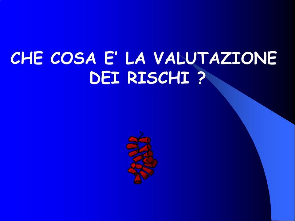 CHE COSA E LA VALUTAZIONE DEI RISCHI ?