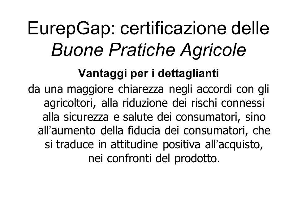 Vantaggi per i dettaglianti da una maggiore chiarezza negli accordi con gli agricoltori, alla riduzione dei rischi connessi alla sicurezza e salute de