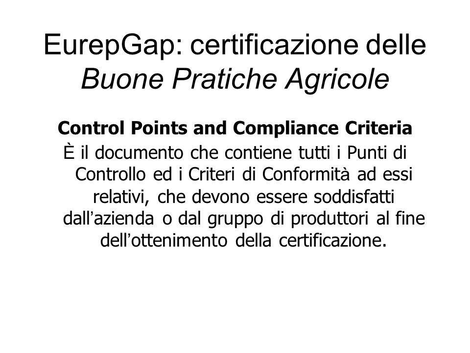 Control Points and Compliance Criteria È il documento che contiene tutti i Punti di Controllo ed i Criteri di Conformit à ad essi relativi, che devono