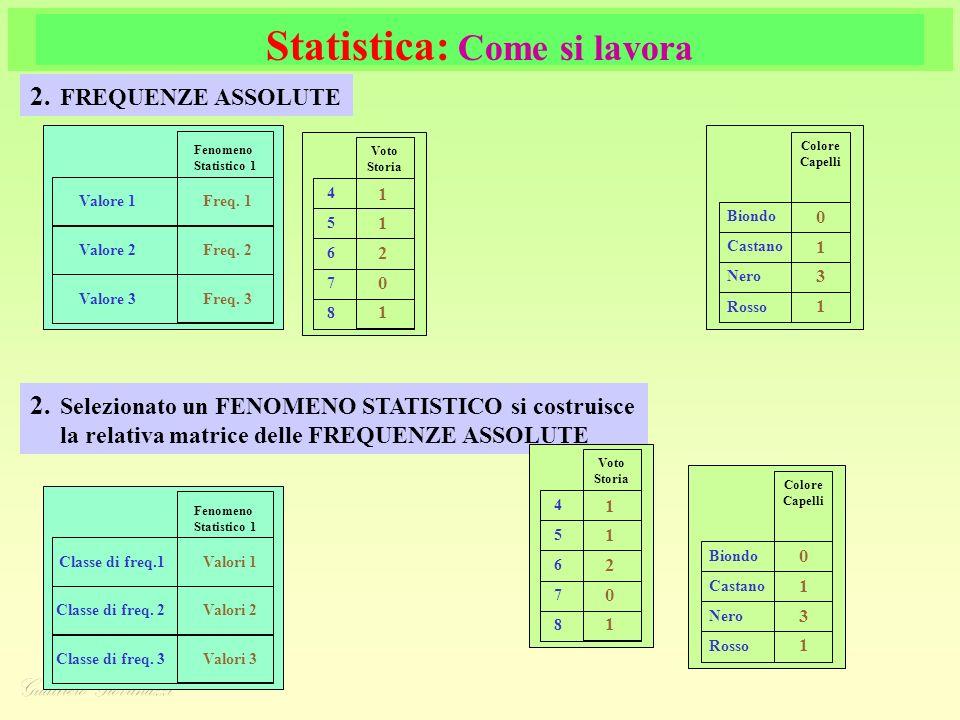 Statistica: Come si lavora 2.