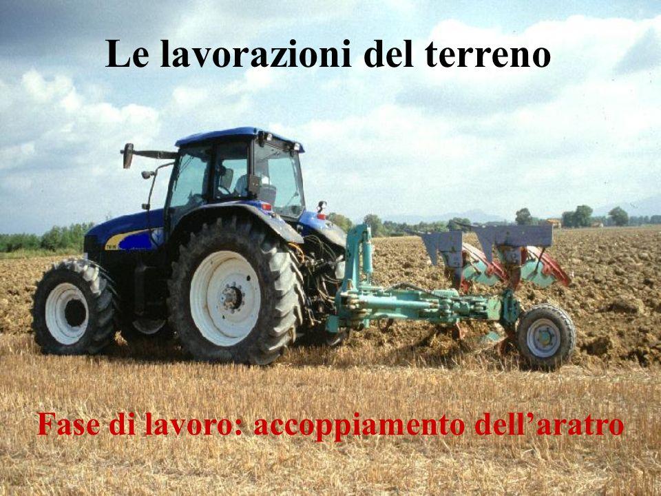 Fase di lavoro: accoppiamento dellaratro Le lavorazioni del terreno