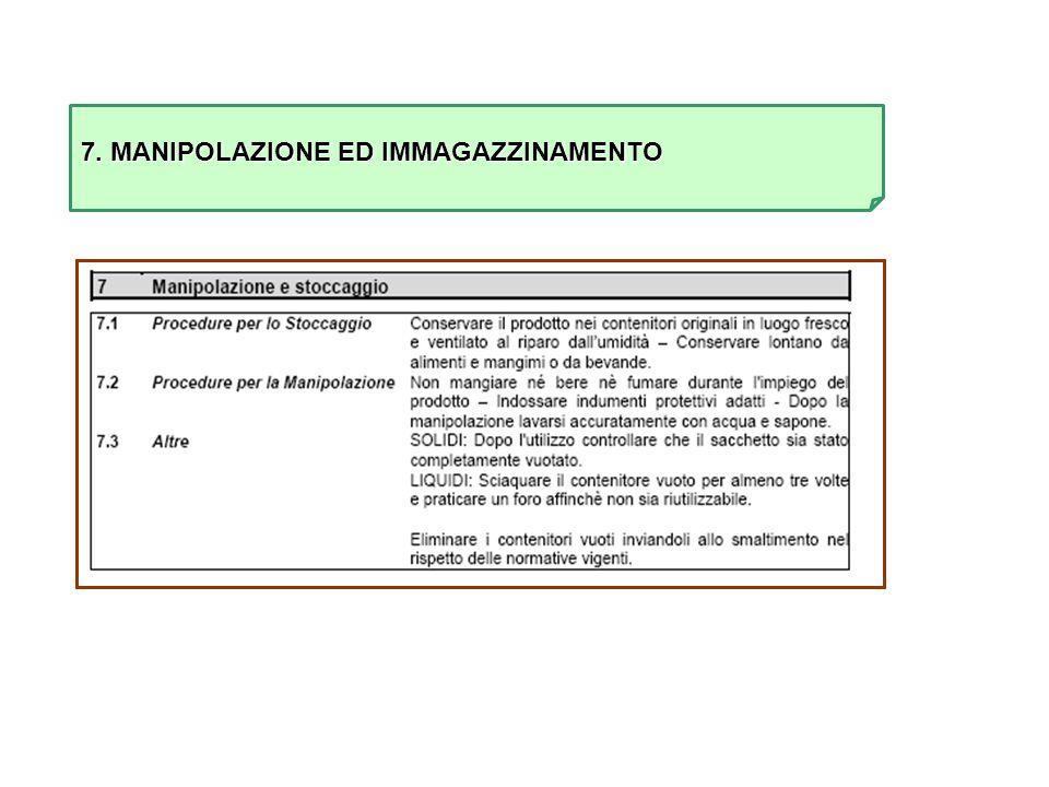 7. MANIPOLAZIONE ED IMMAGAZZINAMENTO
