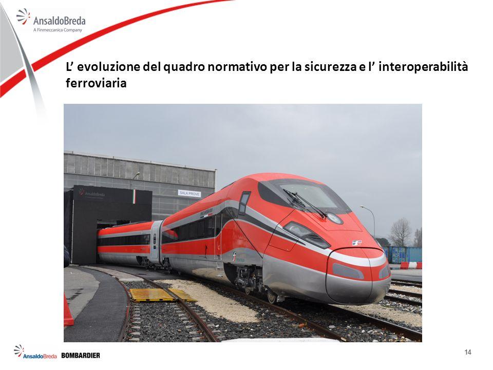 14 L evoluzione del quadro normativo per la sicurezza e l interoperabilità ferroviaria