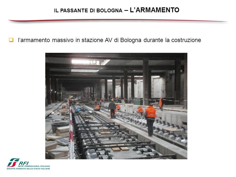 IL PASSANTE DI BOLOGNA – LARMAMENTO larmamento massivo in stazione AV di Bologna durante la costruzione