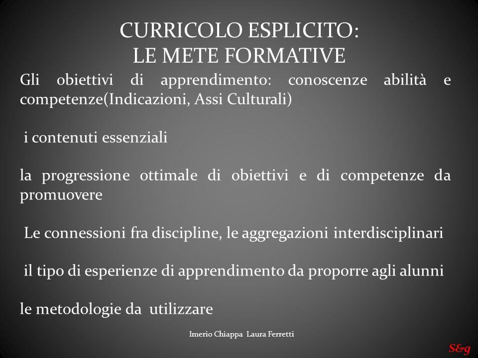 Gli obiettivi di apprendimento: conoscenze abilità e competenze(Indicazioni, Assi Culturali) i contenuti essenziali la progressione ottimale di obiett