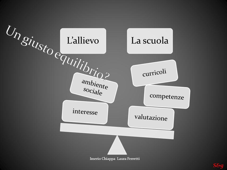 LallievoLa scuola valutazionecompetenze curricoli interesse ambiente sociale Imerio Chiappa Laura Ferretti S&g