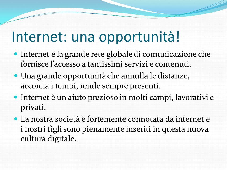 Internet per… Principali servizi e contenuti: WWW World Wide Web, linsieme di tutti gli ipertesti e ipermedia che sono presenti nella rete.