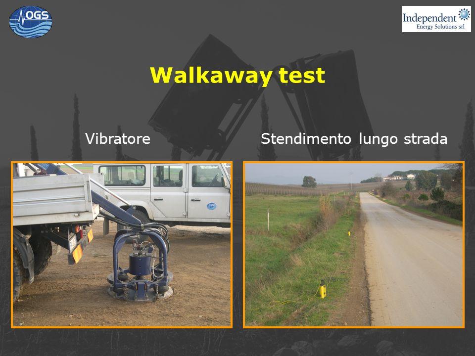 Walkaway test VibratoreStendimento lungo strada