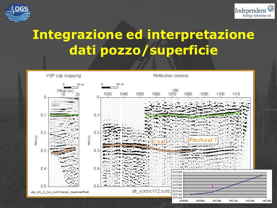 Integrazione ed interpretazione dati pozzo/superficie