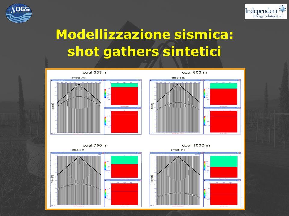 Modellizzazione sismica: shot gathers sintetici