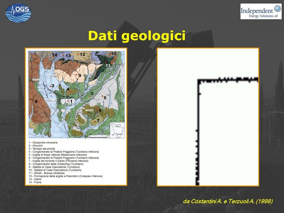 Dati geologici da Costantini A. e Terzuoli A. (1998)