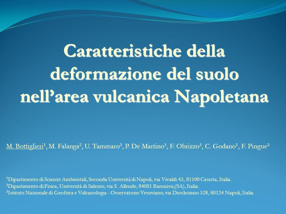 Caratteristiche della deformazione del suolo nellarea vulcanica Napoletana M.