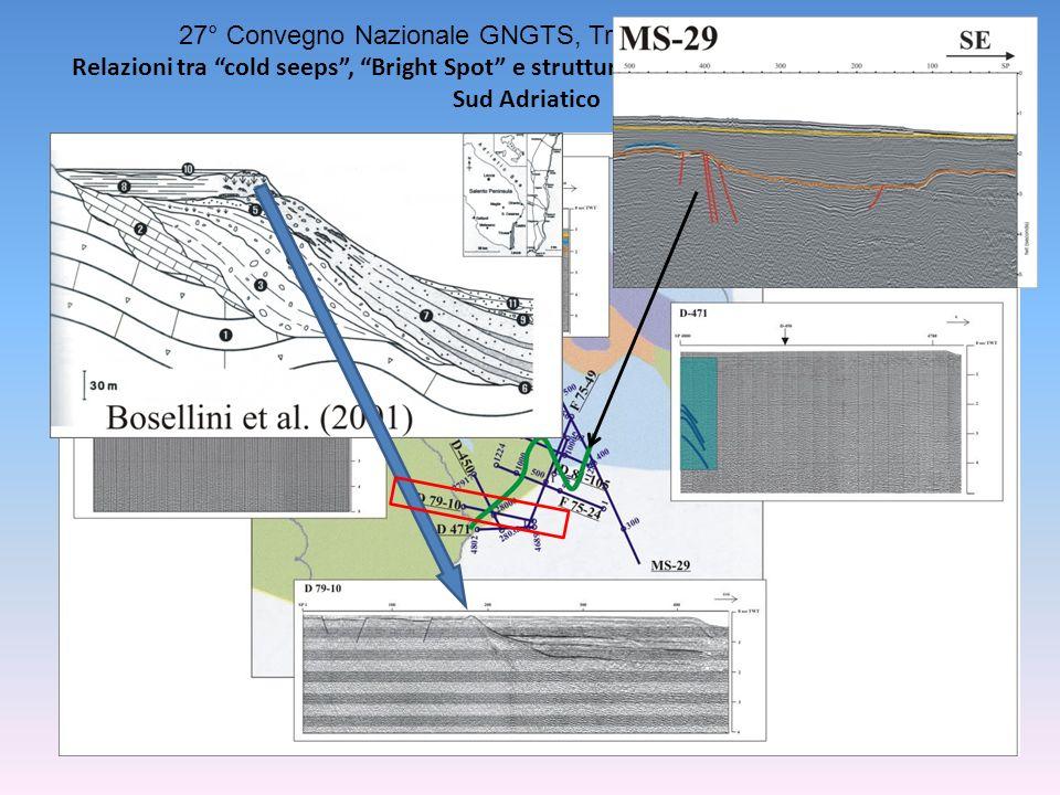 27° Convegno Nazionale GNGTS, Trieste, 6-8 ottobre 2008 Relazioni tra cold seeps, Bright Spot e strutture profonde nel Canale di Otranto, Sud Adriatico