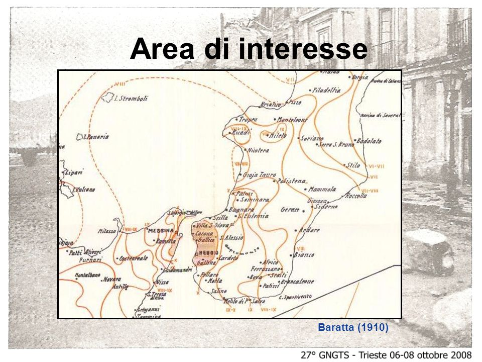 Baratta (1910) Area di interesse