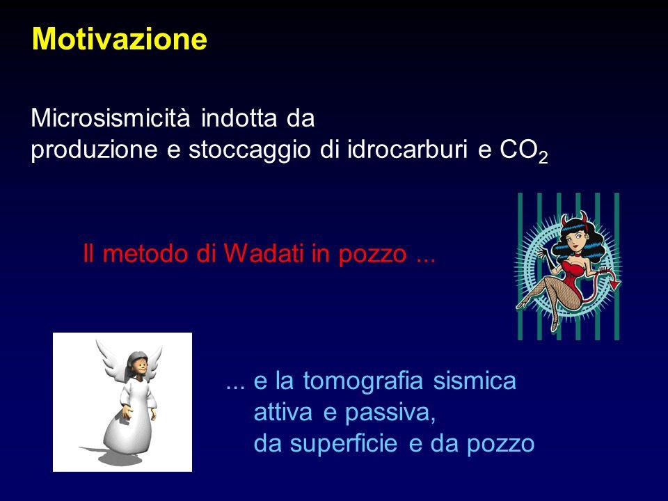 Motivazione Microsismicità indotta da produzione e stoccaggio di idrocarburi e CO 2 Il metodo di Wadati in pozzo...... e la tomografia sismica attiva