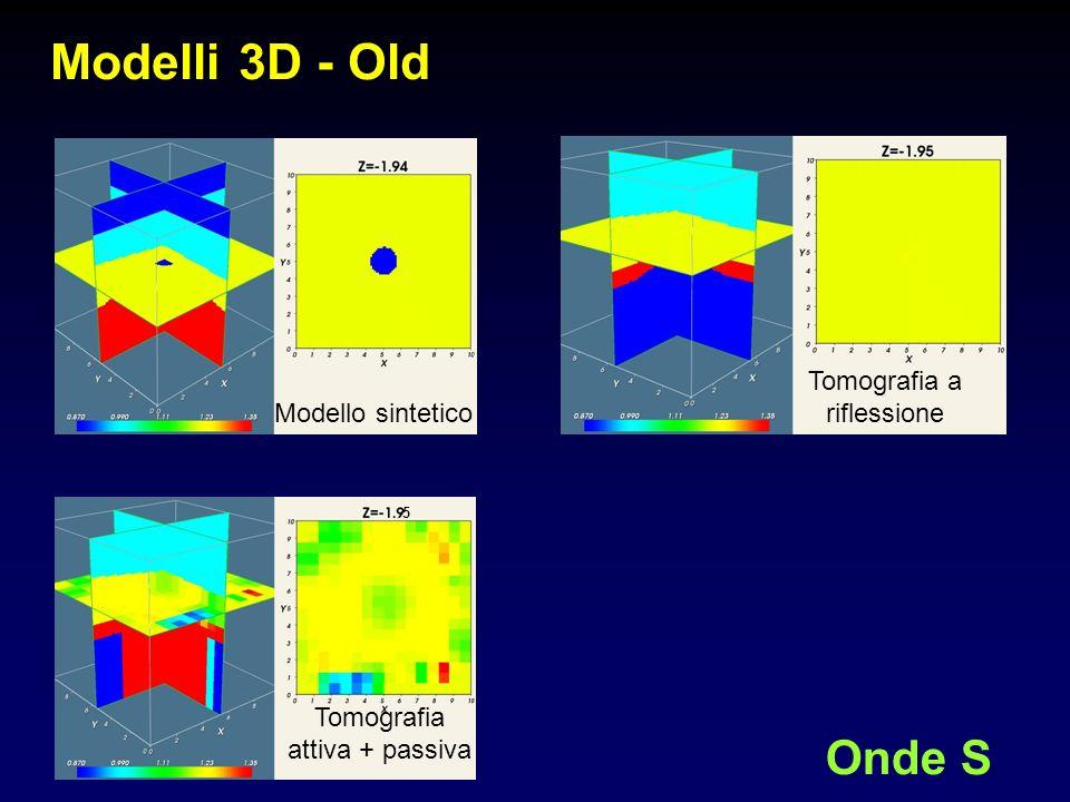 Modelli 3D - Old Onde S Modello sintetico Tomografia a riflessione Tomografia attiva + passiva 5