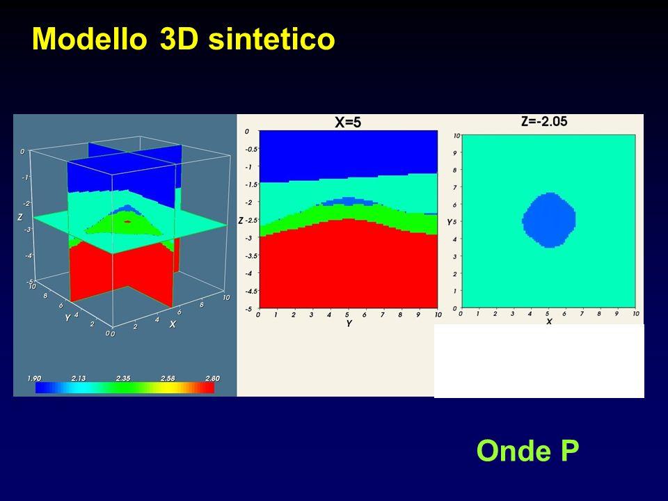 Modello 3D sintetico Onde P