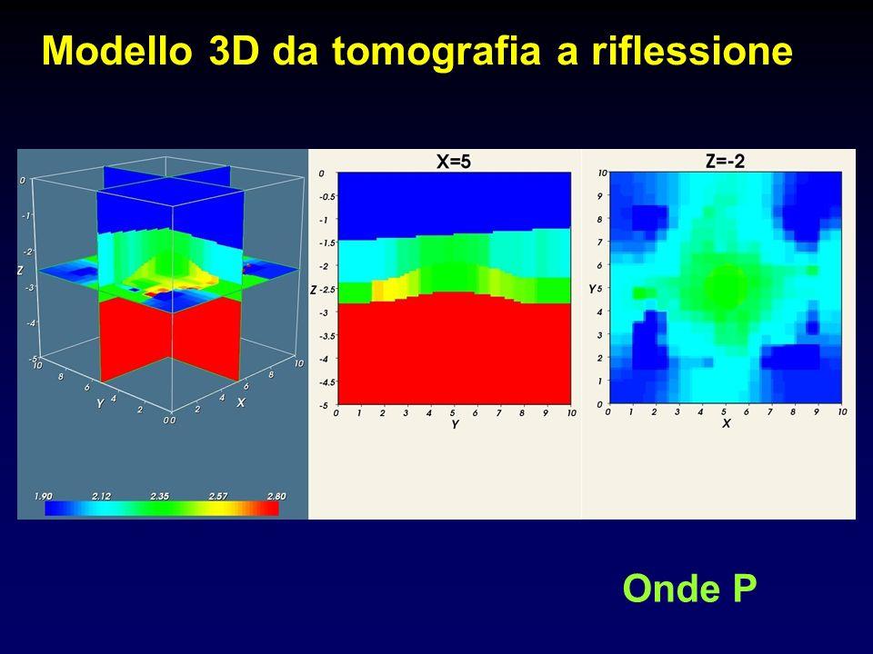 Modello 3D da tomografia a riflessione Onde P