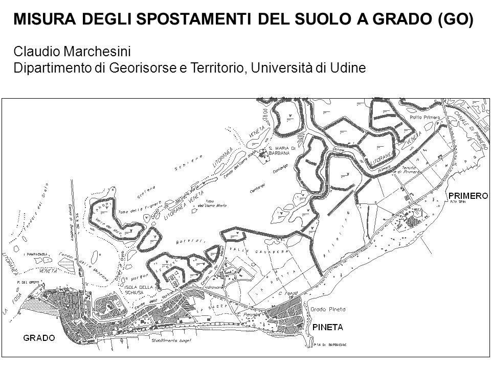 MISURA DEGLI SPOSTAMENTI DEL SUOLO A GRADO (GO) Claudio Marchesini Dipartimento di Georisorse e Territorio, Università di Udine