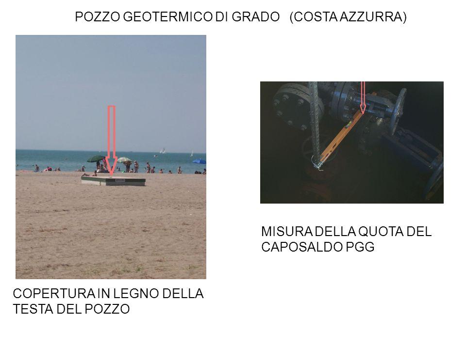 POZZO GEOTERMICO DI GRADO (COSTA AZZURRA) MISURA DELLA QUOTA DEL CAPOSALDO PGG COPERTURA IN LEGNO DELLA TESTA DEL POZZO