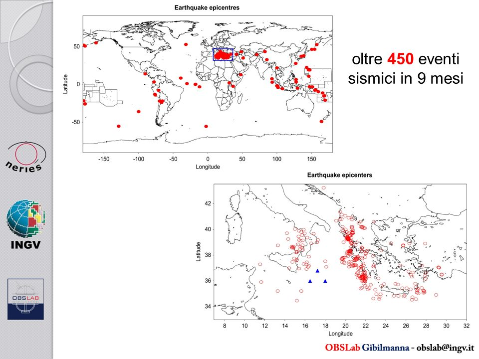 oltre 450 eventi sismici in 9 mesi