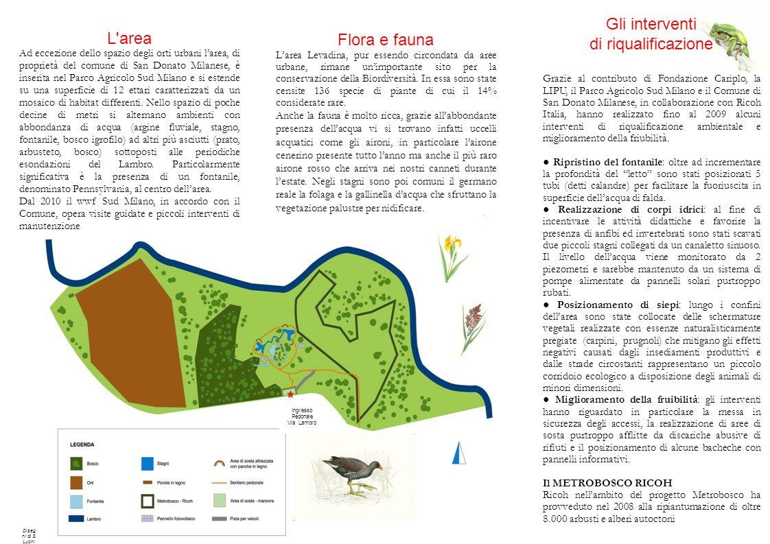Flora e fauna Larea Levadina, pur essendo circondata da aree urbane, rimane unimportante sito per la conservazione della Biordiversità. In essa sono s