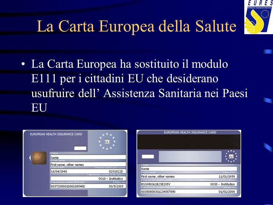 Servizio Sanitario Asistenza sanitaria –Centros de Salud y Hospitales: gratuito –Farmacia: (60% di sconto; gratis per le persone in pensione) Tarjeta Sanitaria Europea o E-100