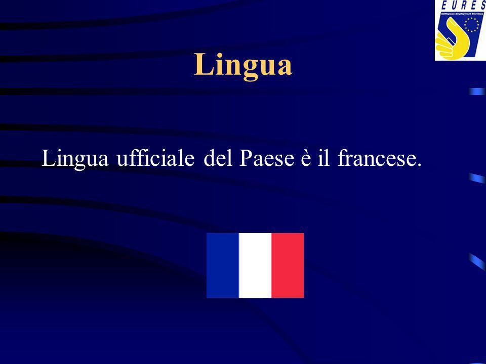Lingua Lingua ufficiale del Paese è il francese.