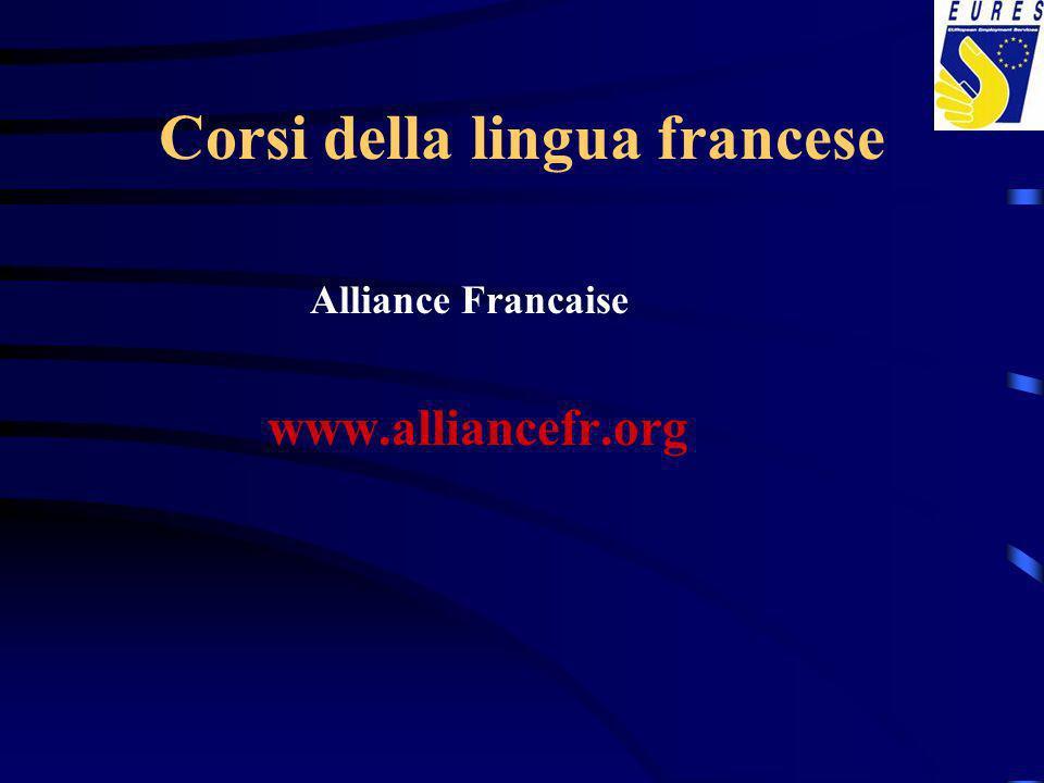 Corsi della lingua francese Alliance Francaise www.alliancefr.org