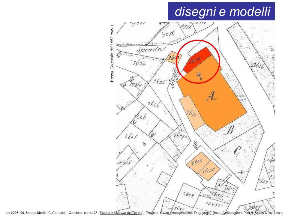 disegni e modelli a.s.2005-06, Scuola Media G.Garibaldi –Gordona- classe 3° -Studi per il Museo del Tesoro - Progetto, Coord., Impaginazione: Prof. Ar