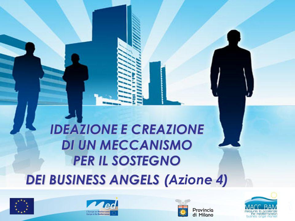 IDEAZIONE E CREAZIONE DI UN MECCANISMO PER IL SOSTEGNO DEI BUSINESS ANGELS IDEAZIONE E CREAZIONE DI UN MECCANISMO PER IL SOSTEGNO DEI BUSINESS ANGELS (Azione 4)