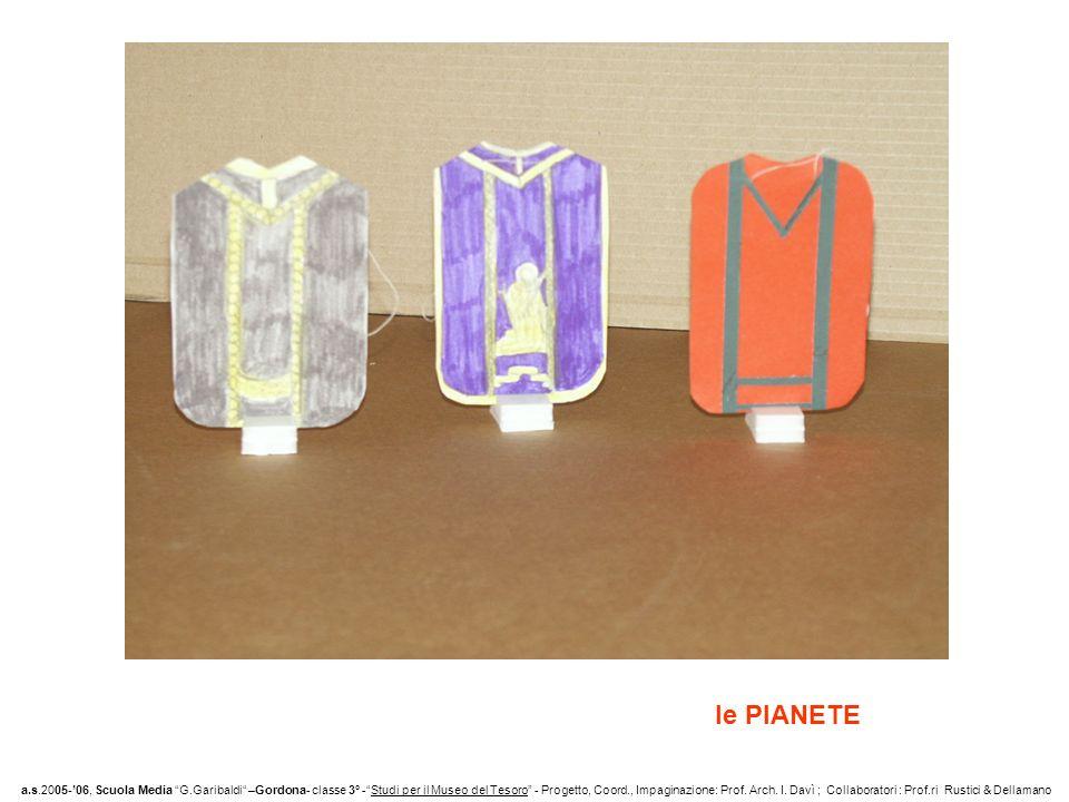 le PIANETE a.s.2005-06, Scuola Media G.Garibaldi –Gordona- classe 3° -Studi per il Museo del Tesoro - Progetto, Coord., Impaginazione: Prof.