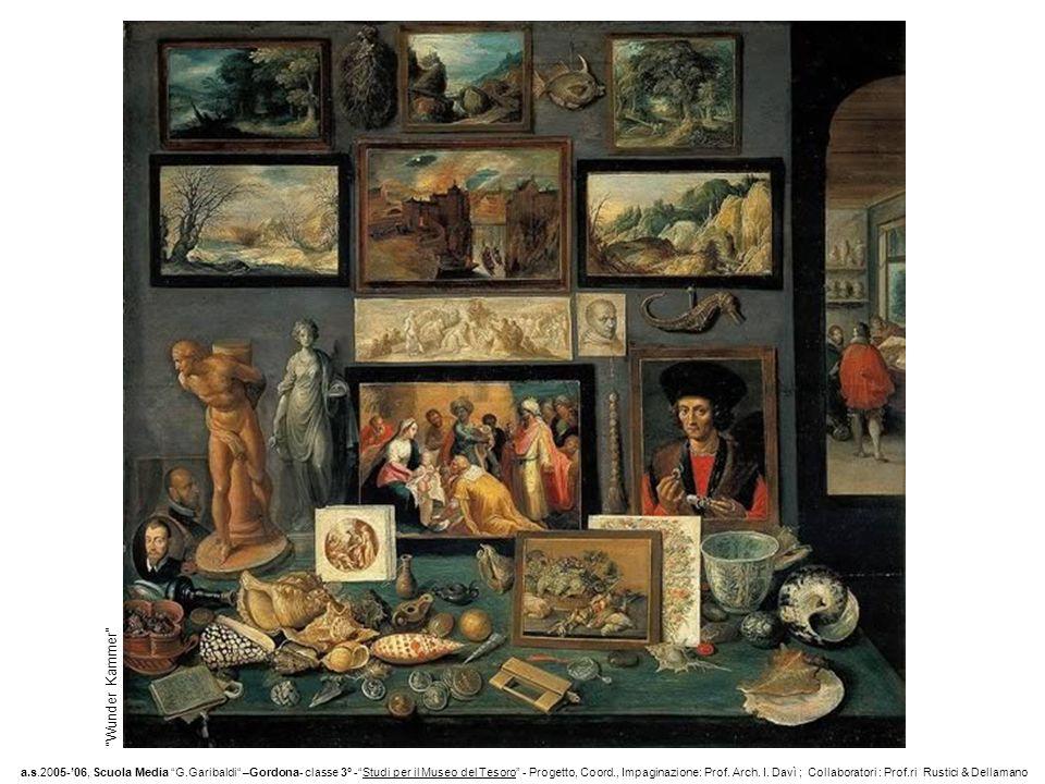 Wunder Kammer a.s.2005-06, Scuola Media G.Garibaldi –Gordona- classe 3° -Studi per il Museo del Tesoro - Progetto, Coord., Impaginazione: Prof.