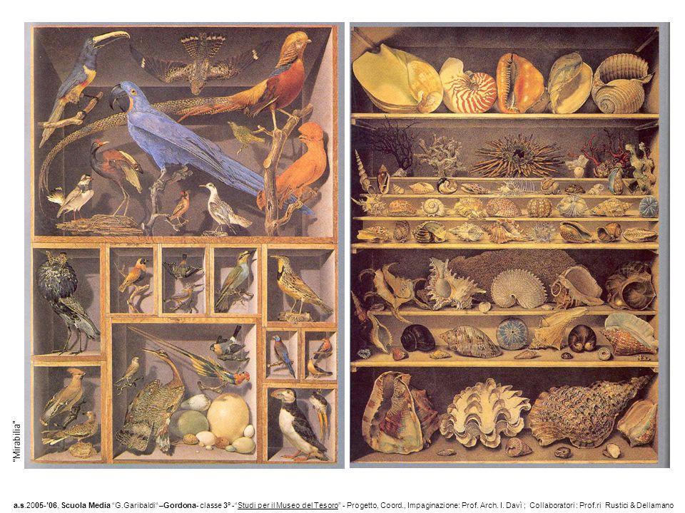 Mirabilia a.s.2005-06, Scuola Media G.Garibaldi –Gordona- classe 3° -Studi per il Museo del Tesoro - Progetto, Coord., Impaginazione: Prof.