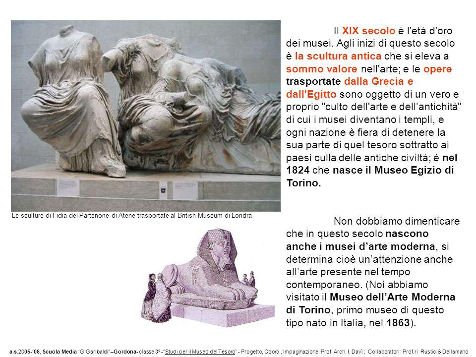 Il XIX secolo è l età d oro dei musei.
