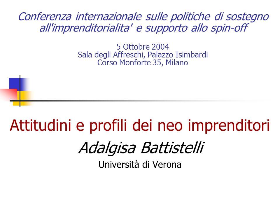 Conferenza internazionale sulle politiche di sostegno all'imprenditorialita' e supporto allo spin-off 5 Ottobre 2004 Sala degli Affreschi, Palazzo Isi