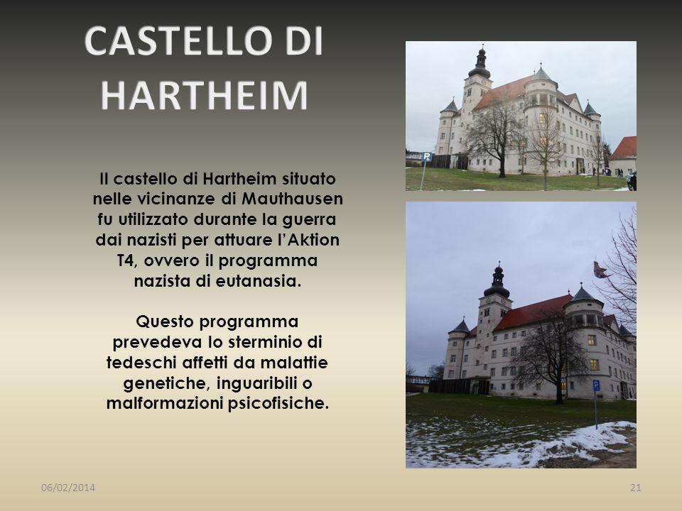 Il castello di Hartheim situato nelle vicinanze di Mauthausen fu utilizzato durante la guerra dai nazisti per attuare lAktion T4, ovvero il programma