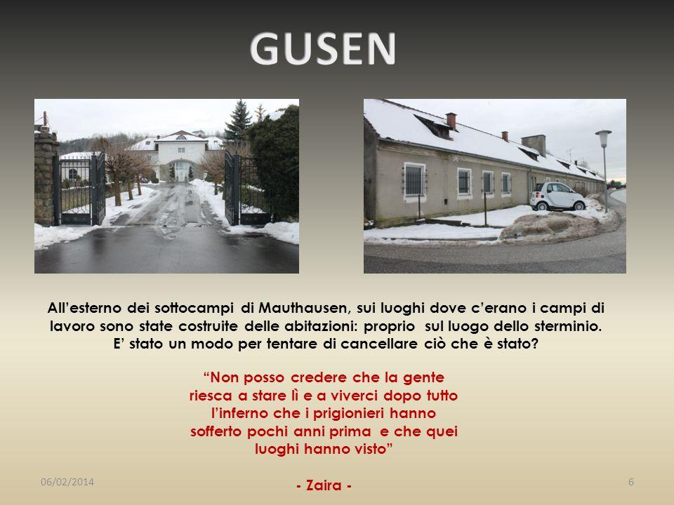 Allesterno dei sottocampi di Mauthausen, sui luoghi dove cerano i campi di lavoro sono state costruite delle abitazioni: proprio sul luogo dello sterm