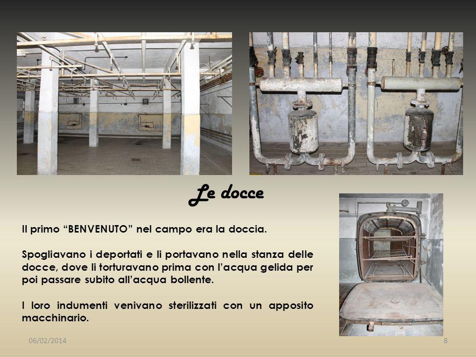 ..le camere gas Le camere a gas vennero sfruttate per lo sterminio di massa.
