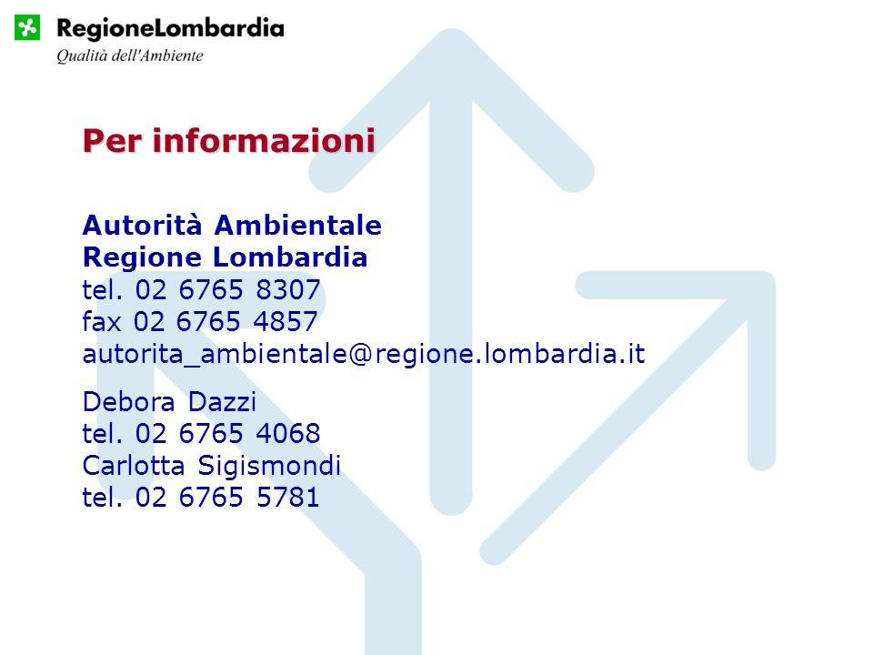 Autorità Ambientale Regione Lombardia tel.