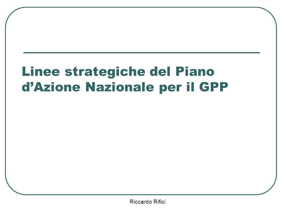 Riccardo Rifici Linee strategiche del Piano dAzione Nazionale per il GPP