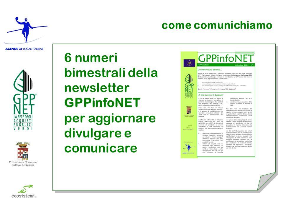 come comunichiamo 6 numeri bimestrali della newsletter GPPinfoNET per aggiornare divulgare e comunicare
